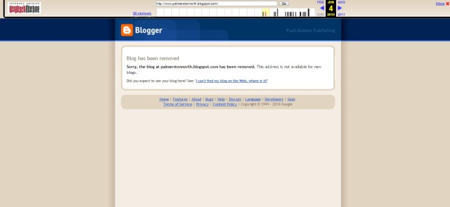 Blogger  Blog not found
