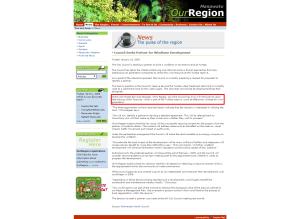 OurRegion Manawatu Council Seeks Partner for Windfarm Development Chris Pepper