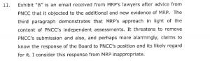 PNCC comment on Price's tactics