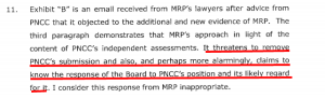 Price Kenderdine collusion, even PNCC knew.