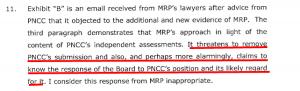Price Kenderdine collusion, even PNCC knew.